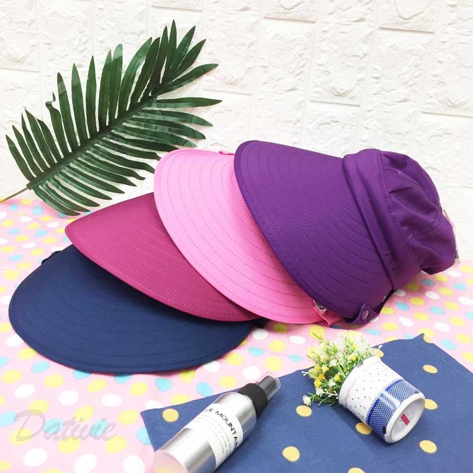 遮陽帽 FLXL 刺繡 帽頂拉鍊可拆 側邊扣式片狀遮陽 後魔鬼氈可調鬆緊 附拉繩 四色 帽子 空頂帽