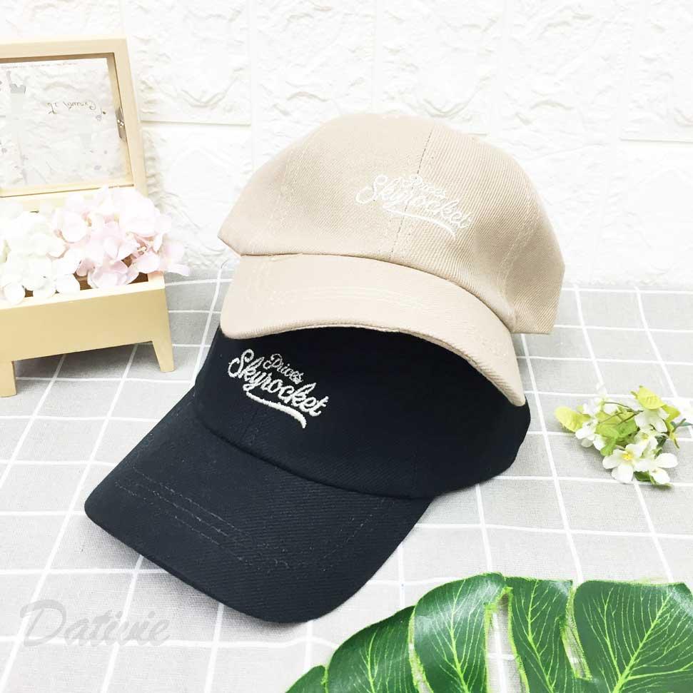 棒球帽 草寫英文 刺繡 後可調鬆緊 帽子 鴨舌帽