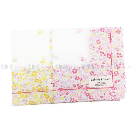 日本製 Liberty Flower 小碎花 小方巾 領巾 優雅 純棉 親膚 日本手帕