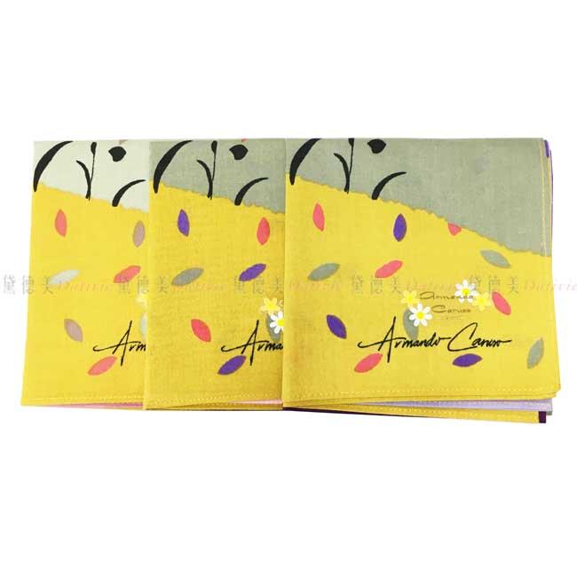 日本製 armando caruso 女士 提袋 小方巾 領巾 優雅 純棉 親膚 日本手帕