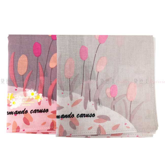 日本製 armando caruso 收割 女士 小方巾 領巾 優雅 純棉 親膚 日本手帕