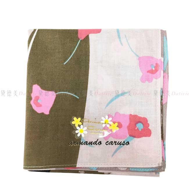 日本製 armando caruso 花朵 包頭女士提包 帽子 陽傘 小方巾 領巾 優雅 純棉 親膚 日本手帕