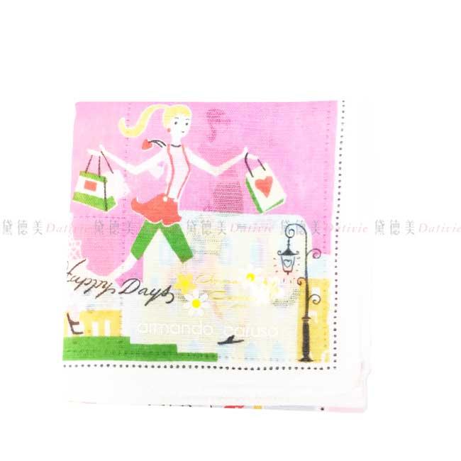 日本製 armando caruso 旅行 獨角獸 天鵝 鴿子 小方巾 領巾 優雅 純棉 親膚 日本手帕