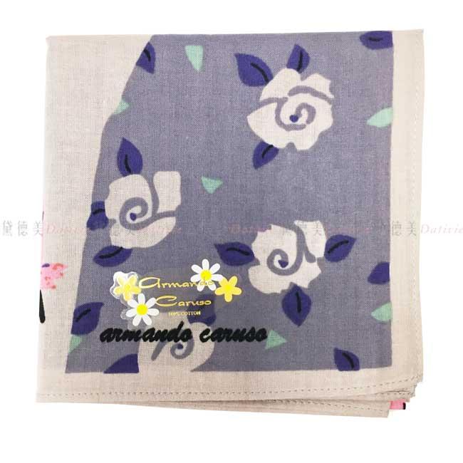 日本製 armando caruso 花朵 兩位女士 包包 陽傘 小方巾 領巾 優雅 純棉 親膚 日本手帕