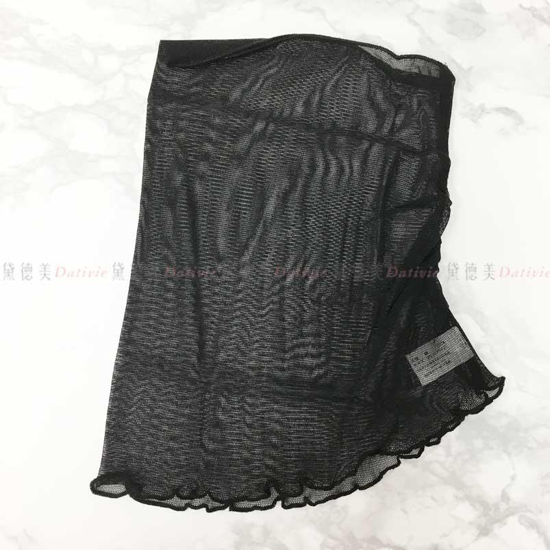 素色 漁網 時尚優雅 親膚  彈性 圍脖 (黑)