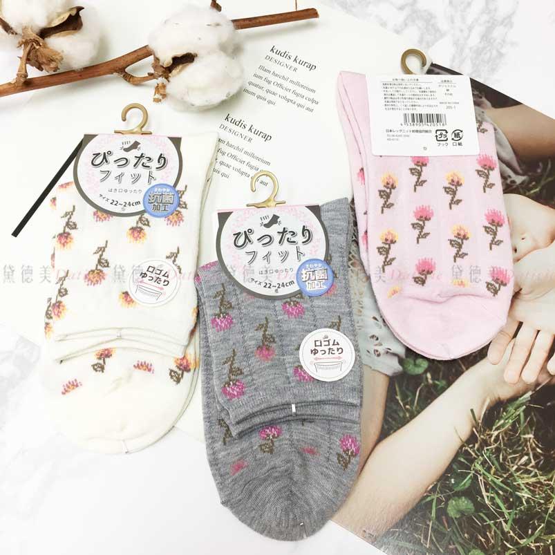 襪子 高筒 滿滿的 花朵 三款選 22~24CM