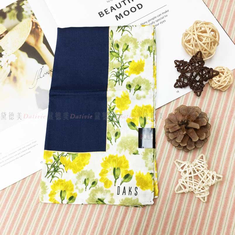 日本製 手帕 DASK 花朵圖案 小方巾 領巾 優雅 親膚 純棉 兩款選 日本手帕