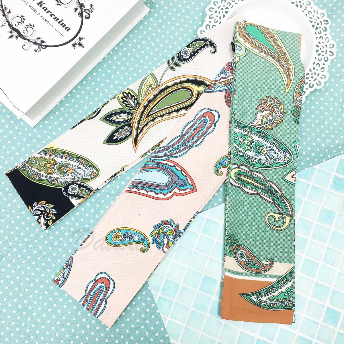 羽毛 樹葉 花 滿版骰子 親膚 領巾 薄絲巾