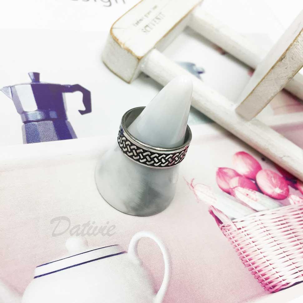 不鏽鋼 輪胎紋路 個性風 銀色 手飾 戒指