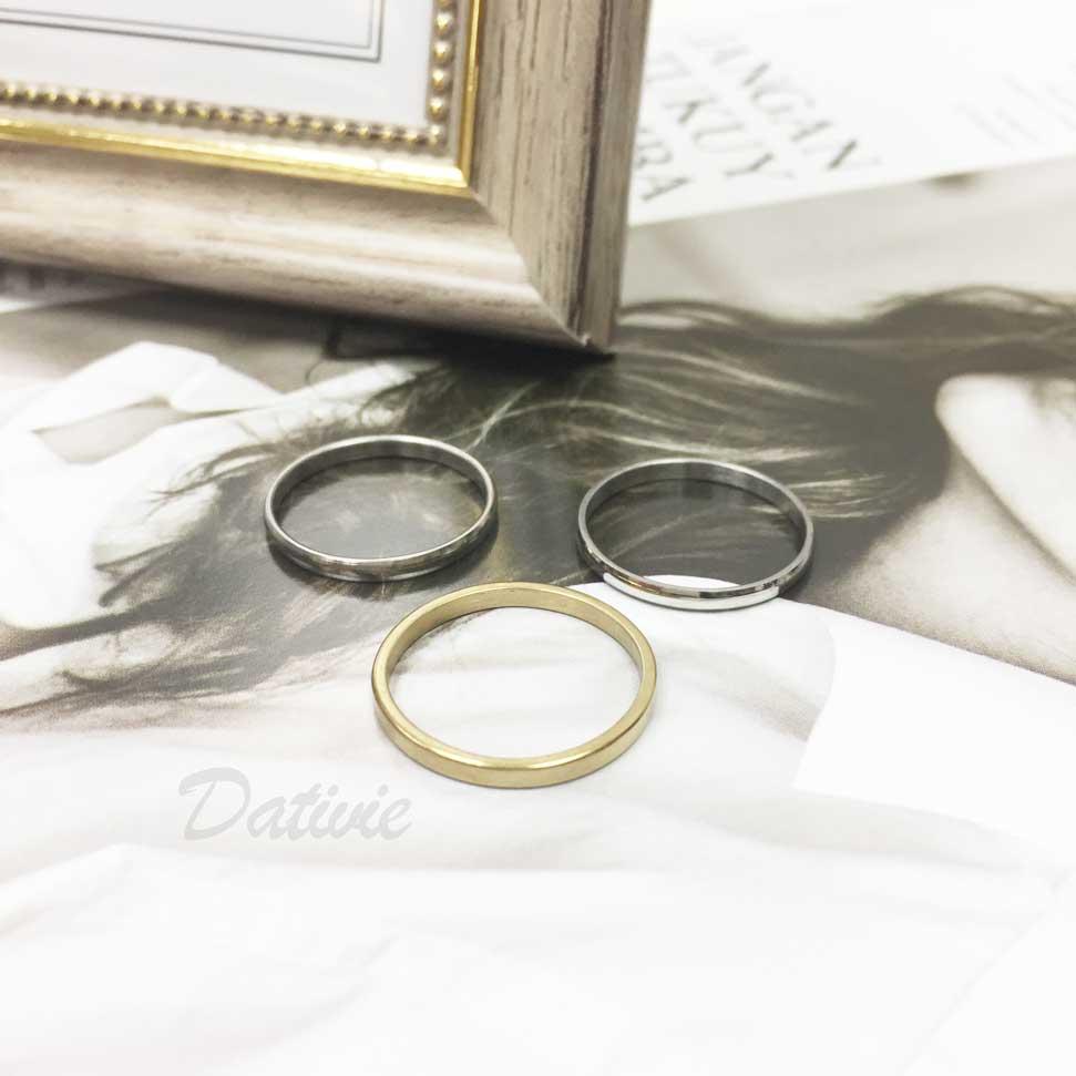 不鏽鋼 素面 素色 簡約款 銀色 金色 三入組 手飾 戒指