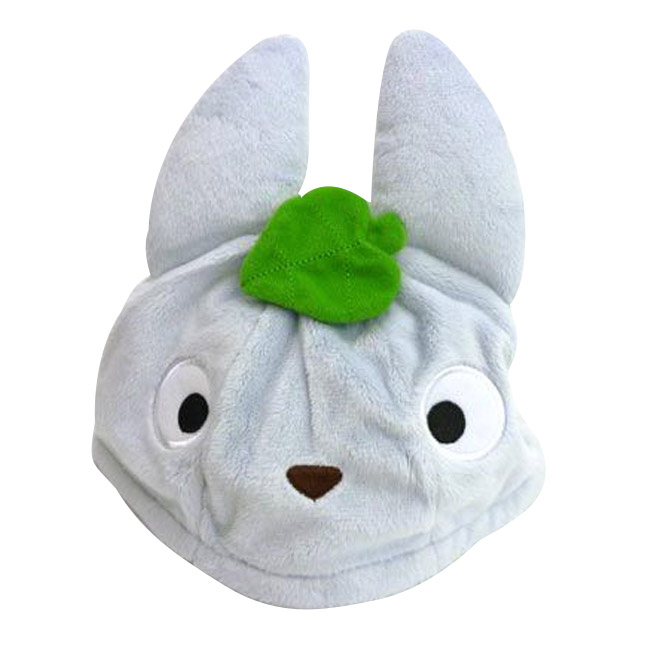 嬰兒頭帽  宮崎駿 龍貓造型 葉子 藍色 絨毛 正版授權 日本進口