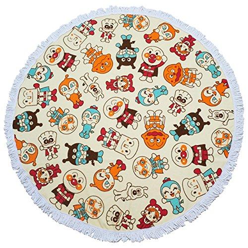 地毯 麵包超人 米黃色 麵包超人與朋友們 地墊 毛墊 正版授權 日本進口