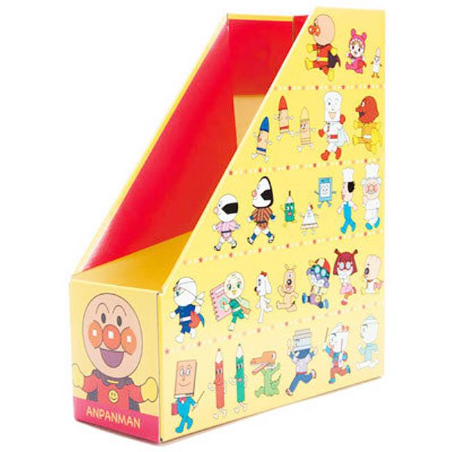 A4文件紙盒 麵包超人 文具 黃色 多角色 文件收納 正版授權 日本製造進口