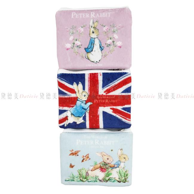 零錢鑰匙包 彼得兔 國旗 花園 跑兔 玫瑰 紫 深藍 淺藍