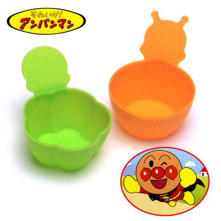 造型配菜放置盒 麵包超人 細菌人 橘色 綠色 便當配菜盤 耐熱250度 耐冷-30度 正版授權 日本進口