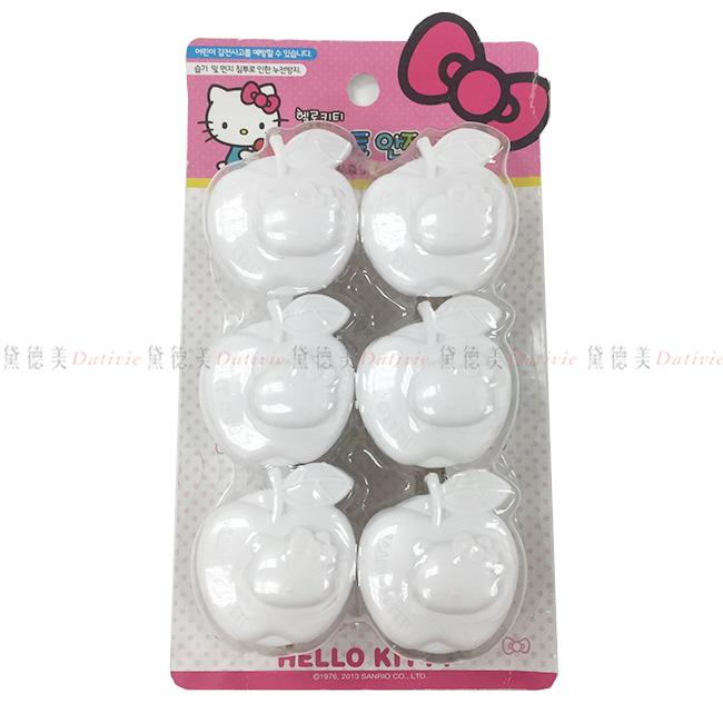 插座保護蓋 三麗鷗 HELLO KITTY 蘋果KITTY 220V專用 絕緣插 白色 6入 正版授權 韓國製造進口