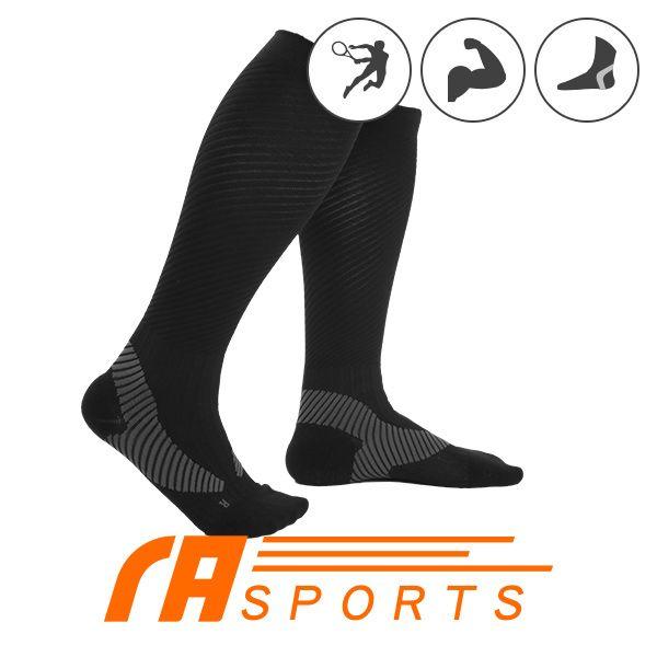 瑪榭著壓運動長襪 阿基里斯壓力運動長襪 男女適用 L號 XL號 黑色