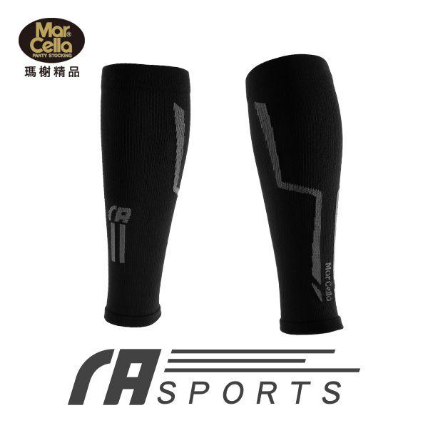 瑪榭運動壓縮小腿套(單入) 無縫加壓設計 乾爽透氣 灰色 螢光黃 M號