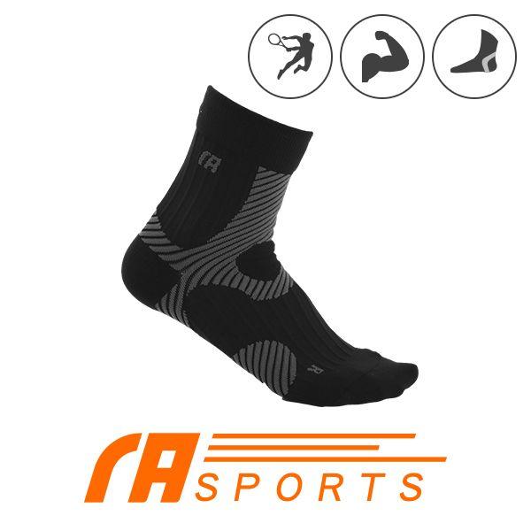 瑪榭著壓運動短襪 阿基里斯壓力運動短襪 男女適用 M號 L號 灰色