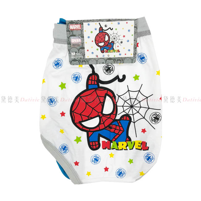 三角內褲 復仇者聯盟系列 蜘蛛人 藍色 白色 2入 男童 孩童 三角褲 內褲 正版授權 貨號ML-CF008
