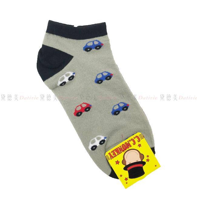 13-21cm 兒童襪 C.C.MONKEY  可愛小汽車  細針精梳棉  舒適 灰黑色正版授權