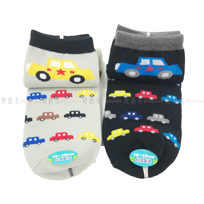 兒童襪 FOR BOYS 男童襪  可愛小汽車  灰色 黑色   15~18cm 正版授權