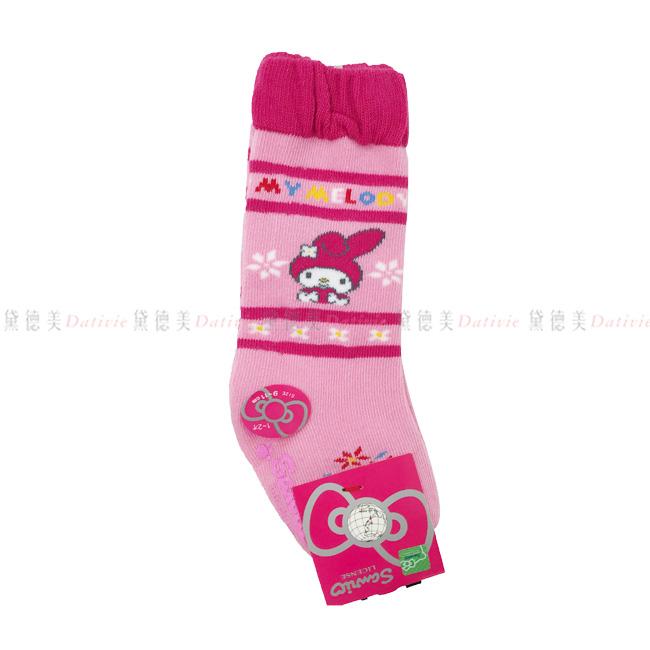 兒童長襪  三麗鷗 美樂蒂  小花 英文字 紛色 9~11cm 正版授權