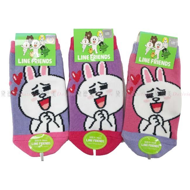 兒童襪 LINE貼圖直版襪 超人氣貼圖 兔子 粉色 紫色 藍色 9~14cm正版授權