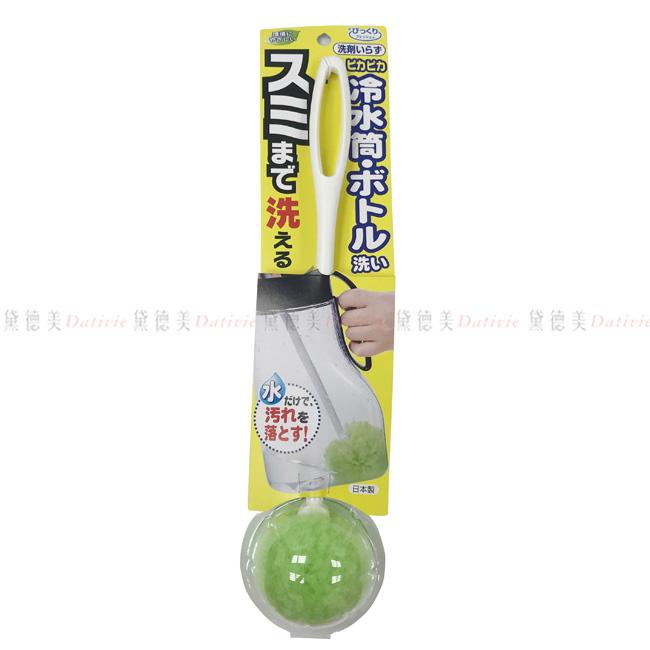 刷子 SANKO 日製免洗劑球型水壺清潔刷 白.綠刷頭 不需使用洗劑就可使用 只需要清水即可擁有神奇的洗淨能力 輕鬆洗刷水壺.保溫瓶的髒污 耐熱80度 正版授權 日本製造
