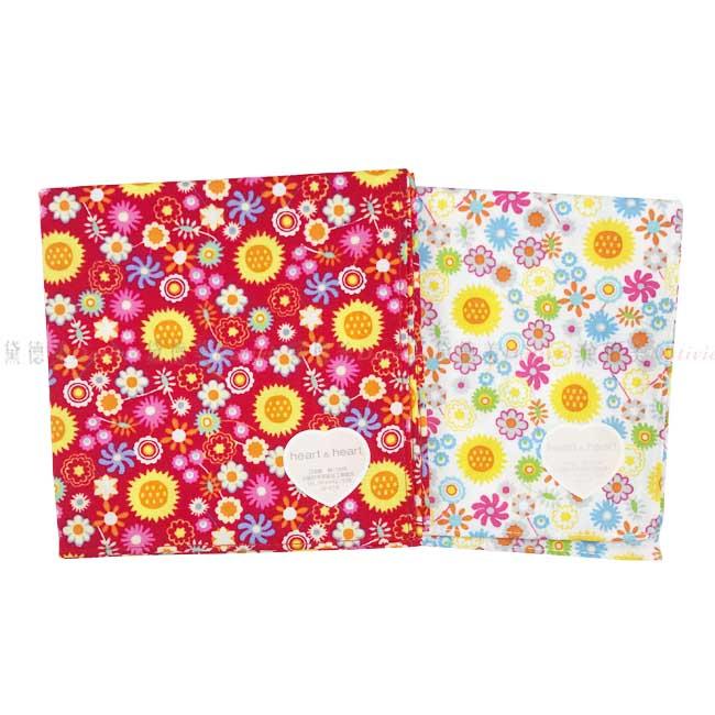 日本製 純棉 手帕  heart 日本純棉毛巾 最高品質毛巾 小方巾 小手帕  小碎花 紅色 白色 兩款顏色 100%純棉安全又安心  正版授權 日本製造進口
