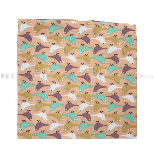 日本製 純棉 手帕 日本純棉毛巾 最高品質毛巾 小方巾 小手帕  小鳥圖  橘色 100%純棉安全又安心  正版授權 日本製造進口